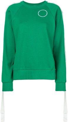 Monse Raglan Snap Sleeve Sweatshirt