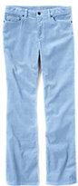 Classic Women's Mid Rise Straight Leg Corduroy Pants-Blue Brook