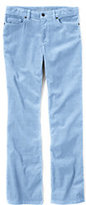 Classic Women's Petite Mid Rise Straight Leg Corduroy Pants-Blue Brook