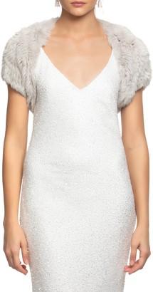 bübish Whistler Genuine Rabbit Fur Bolero Jacket