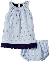 Hatley Nautical Anchors Lace Dress (Baby) - Blue - 3-6 Months