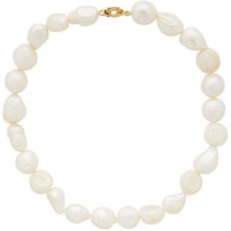 1064 STUDIO White Pearl Choker Necklace