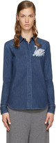 Stella McCartney Blue Denim Swan Shirt