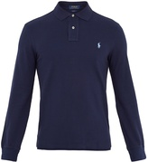 Polo Ralph Lauren Long-sleeved cotton-piqué polo shirt
