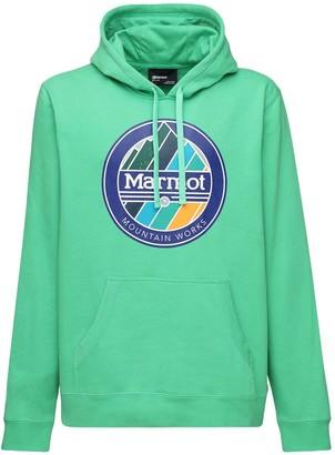 Marmot Chock Cotton Blend Sweatshirt Hoodie