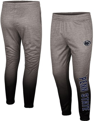 Colosseum Men's Heathered Gray Penn State Nittany Lions Sitwell Sublimation Fleece Pants