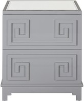 The Well Appointed House Worlds Away Pagoda Nightstand in Grey