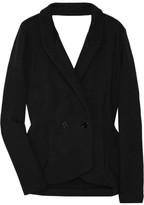 T by Alexander Wang Cutout cotton-jersey blazer