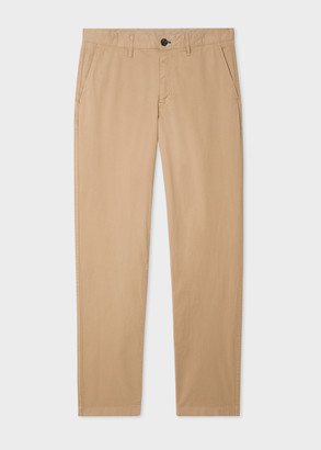 Paul Smith Men's Tapered-Fit Sand Stretch-Cotton Chinos