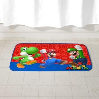 "Super Mario Bros. Super Mario Kids Foam Bath Rug, Skid-Resistant, Polyester, 30"" x 20"""