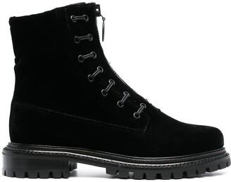 Aquazzura Ankle-Length Lace-Up Boots