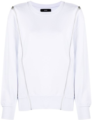 Diesel Zip-Detail Insert Sweatshirt