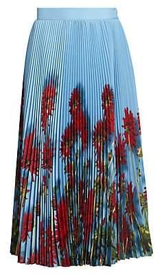 Dries Van Noten Women's Pleated Floral Midi Skirt