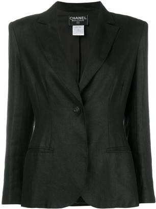 Chanel Pre Owned Single-Button Blazer