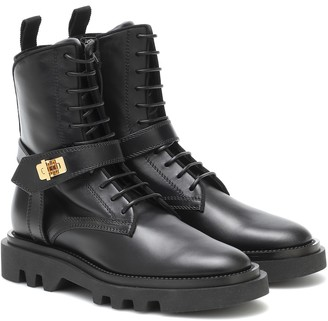 Givenchy Eden leather combat boots