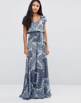 Pepe Jeans Daria Tiles Print Maxi Dress