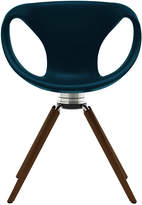 Houseology Tonon Up Chair Swivel With Black Walnut Legs - Memory Return - Blue