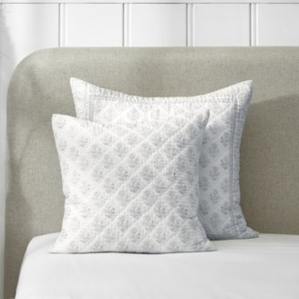 The White Company Provence Cushion Cover, White Blue, Large Square