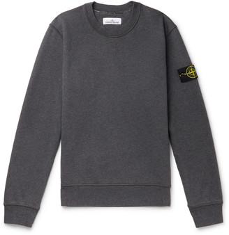 Stone Island Logo-Appliqued Garment-Dyed Loopback Cotton-Jersey Sweatshirt