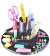 Universal Rotary Desk Organizer, 11 Compartments, 8 3/4 dia x 5 3/8, Black