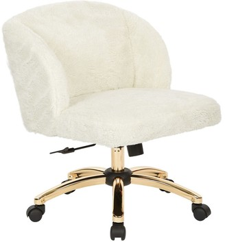 Office Star Silver Orchid Brent Office Chair In Cream Fabric