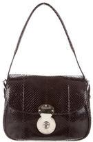 Ralph Lauren Medium Snakeskin Cartridge Bag