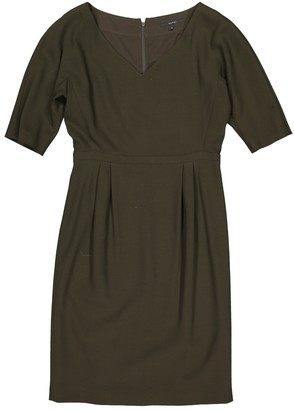 Gucci Khaki Wool Dress for Women