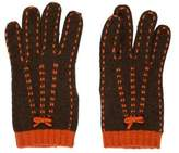 Moschino Embroidered Wool Gloves