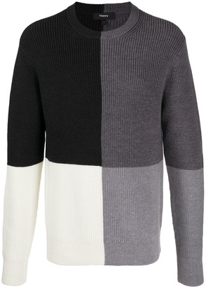 Theory Denton block knit jumper