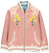 Stella McCartney Willow Embroidered Floral Reversible College Jacket