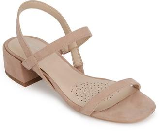 Kenneth Cole New York Maisie Low Block Heel Simple Suede Sandal