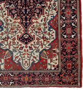 Rejuvenation Vintage Persian Serapi Rug w/ Repair