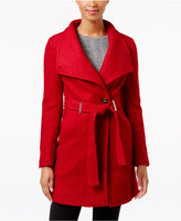 Calvin Klein Wool-Blend Asymmetrical Walker Coat