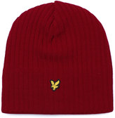 Lyle & Scott Ruby Red Lined & Ribbed Beanie
