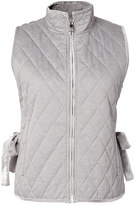 Banana Republic Quilted Vest with Velvet Trim