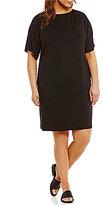 Eileen Fisher Plus Cold-Shoulder Dress