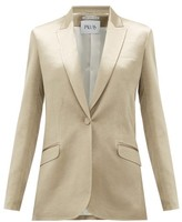 Pallas X Claire Thomson Jonville X Claire Thomson-jonville - Gala Single-breasted Hammered-satin Jacket - Womens - Gold