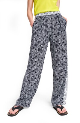 Rag & Bone Colette Medallion Print Wide Leg Pants