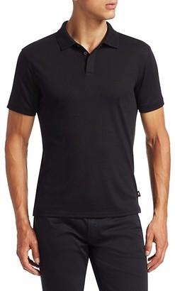 Emporio Armani Textured Collar Slim-Fit Polo Shirt