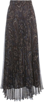 P.A.R.O.S.H. Long Chiffon Skirt Fantasy