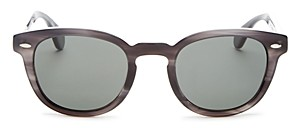Oliver Peoples Men's Sheldrake Polarized Round Sunglasses, 47mm