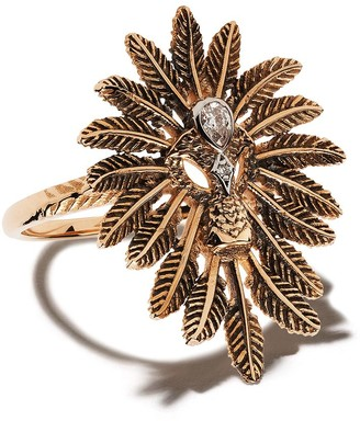 Kismet by Milka 14kt Rose Gold Feathered Diamond Cocktail Ring