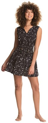 Maaji Sparkling Superstar Short Dress Cover-Up (Black) Women's Swimwear
