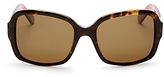 Kate Spade Annora Polarized Rectangle Sunglasses, 54mm