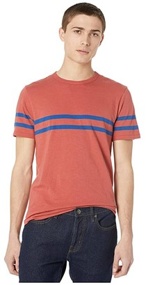 J.Crew Slub Jersey T-Shirt (Red/Blue Racing Stripe) Men's Clothing