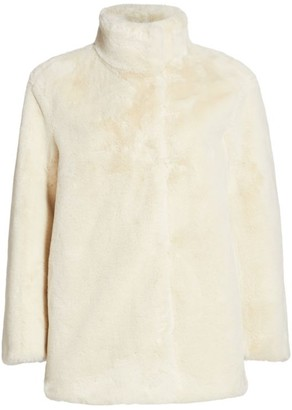Akris Punto Faux-Fur Stand Collar Jacket