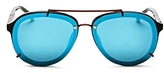 3.1 Phillip Lim Mirrored Aviator Sunglasses, 61mm