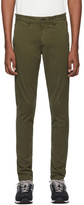 Rag & Bone Green Fit 1 Classic Chino Trousers