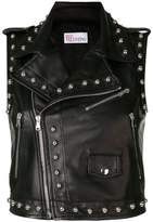 RED Valentino studded sleeveless motorcycle vest