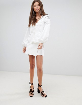 Fashion Union Blouse With Tassle Detail